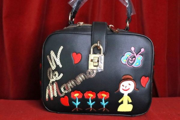 8129 Designer Cartoonish La Mama Trunk Crossbody Handbag