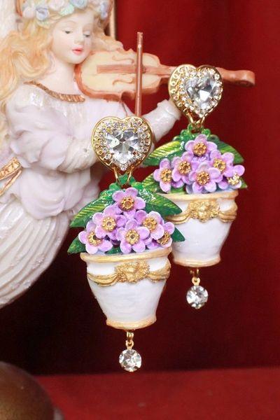 SOLD! 8136 Baroque Hydrangea Pod Elegant Earrings