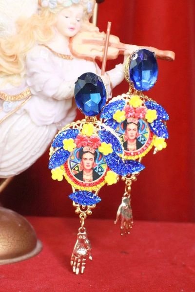 8138 Frida Kahlo Abstract Colorful Studs Earrings