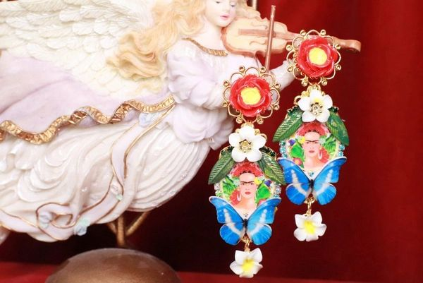 8140 Frida Kahlo Summery Butterfly Studs Earrings