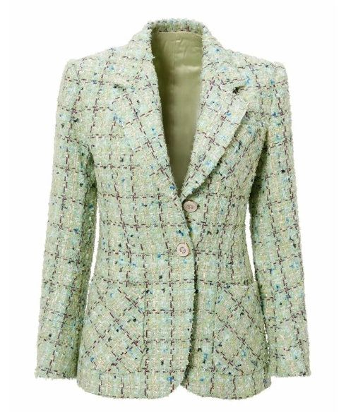 8147 Runway 2020 Coco Tweed Single Breasted Fit Blazer