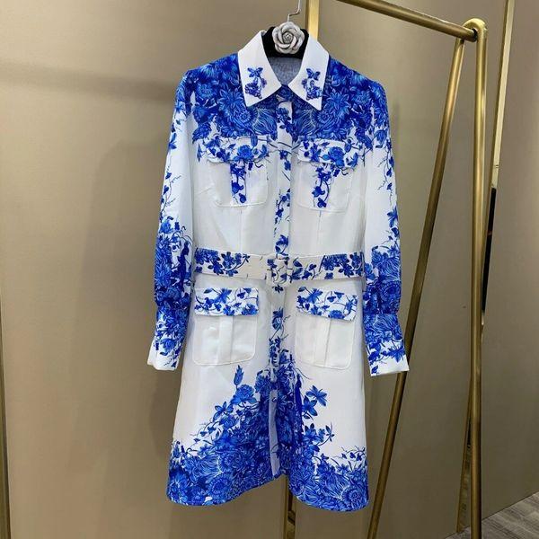 8148 Runway 2020 Floral Print Boho Mini White Dress