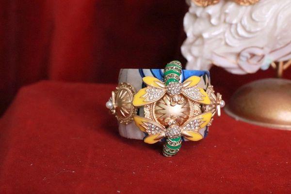 8154 Baroque Bee Embellished Bangle Bracelet