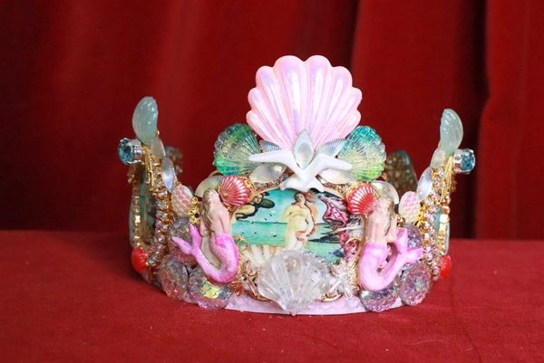8215 Birth Of Venus Stunning Crown Tiara Headband Octopus