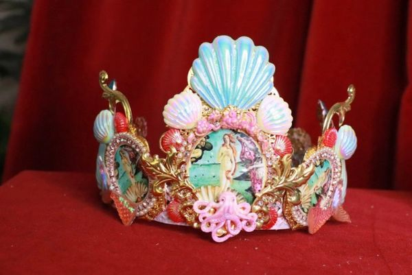 8216 Birth Of Venus Stunning Crown Tiara Headband Octopus