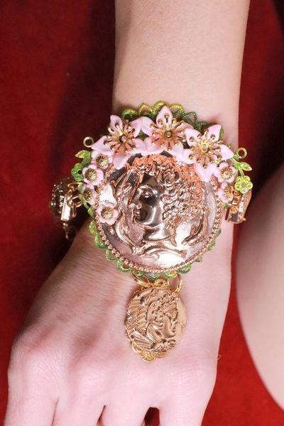 8262 Baroque Roman Coin Flower Blossom Bracelet