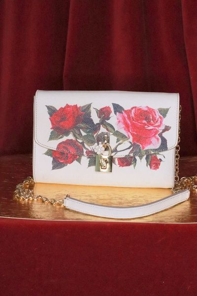7450 Floral Genuine Leather Small Purse