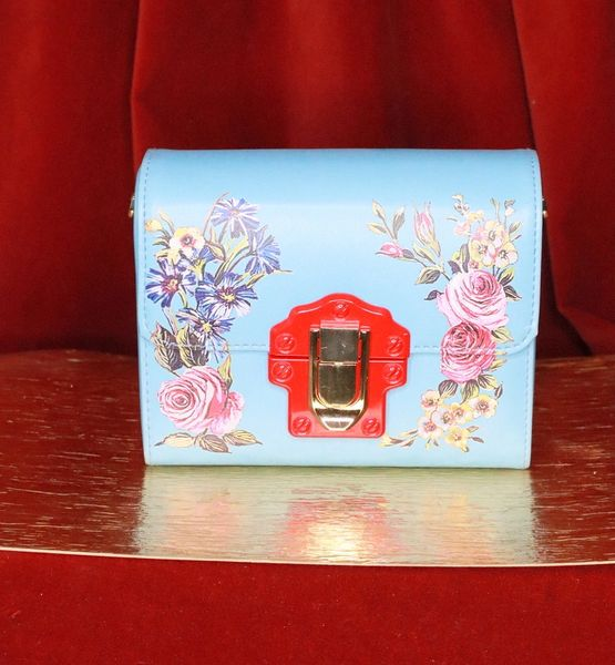 7643 Baroque Floral PU Leather Purse Crossbody