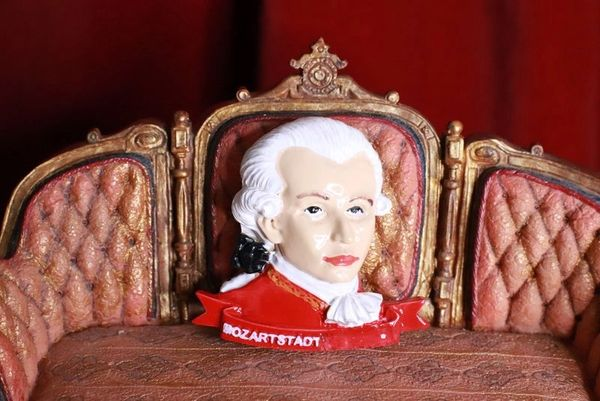 8362 Mozart Musical Hand Painted Massive Brooch