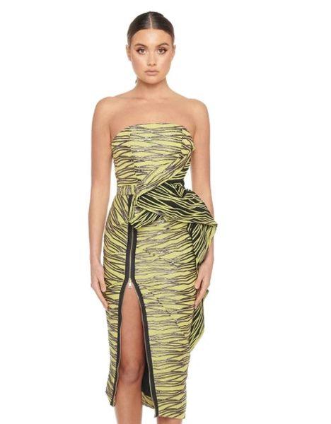 8378 Runway 2021 Bodycon Strapless Zipper Stunning Dress SIZE US4