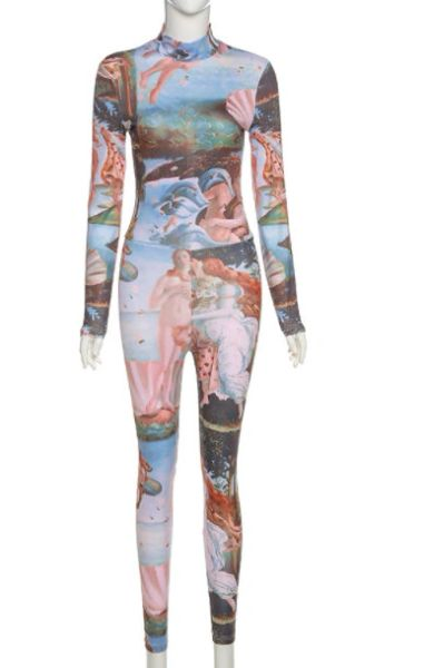8439 Photosession Performance Birth Of Venus Jumpsuit Stretchy Size S-M