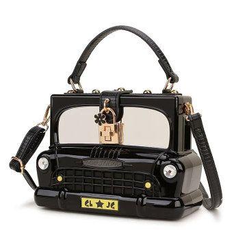 8457 Baroque Fancy Car Shape Tote Crossbody Handbag