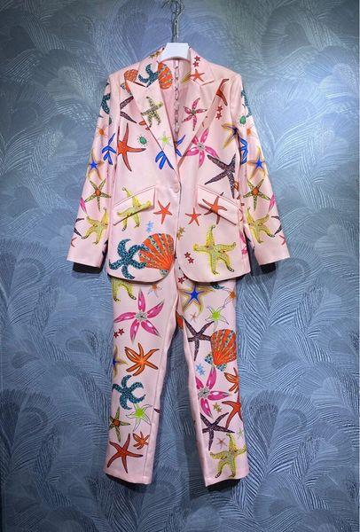 8576 Runway 2021 2 Colors Nautical Blazer+ Pants Twinset