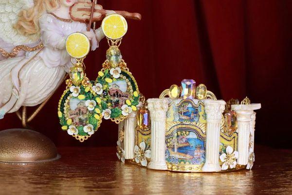 8602 Baroque Taormina Column Tile Cameo Elegant Crown