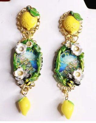 8606 Baroque Taormina Studs Earrings