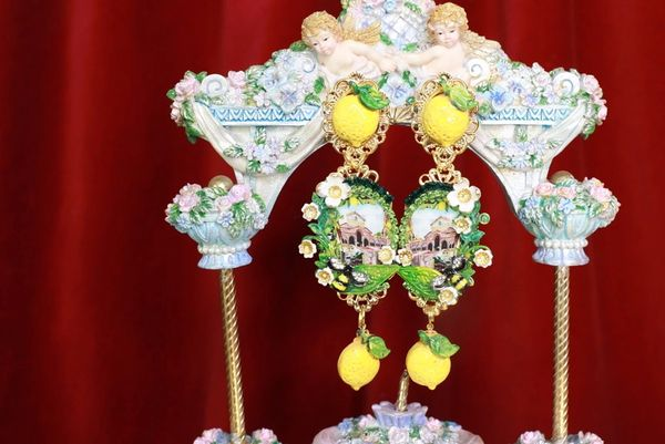 8609 Baroque Palermo Cameo Elegant Studs Earrings