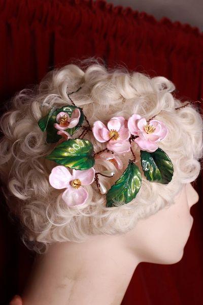 SOLD! 8706 Sakura Blossom Leaf Hair Pin