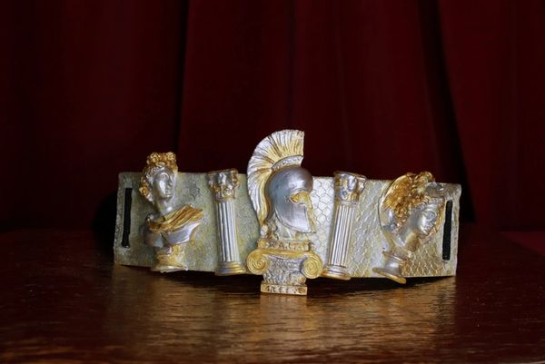 8726 Greek Statues Gold Silver Embellished Waist Gold Belt Size S, L, M
