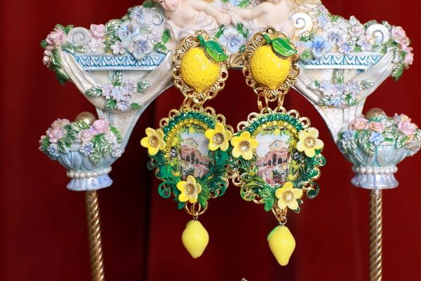 SOLD! 8737 Baroque Palermo Cameo Studs Earrings