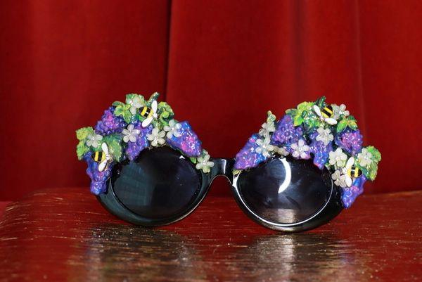 8740 Baroque Grapes Hand Painted Embellished Embellished Sunglasses