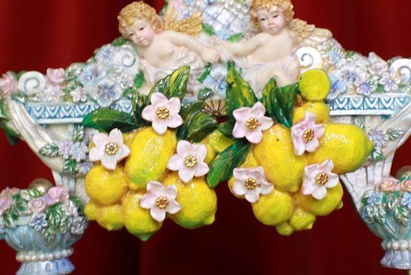8751 Baroque Vivid Lemon Fruit Blossom Studs Earrings