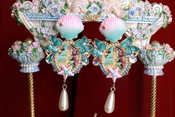 8795 Birth Of Venus Rhinestone Butterfly Studs Earrings