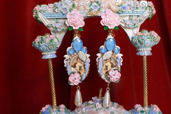 8798 Renaissance Paintings Long Massive Earrings