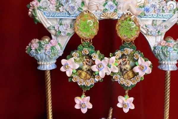 8799 Renaissance Paintings Romantic Massive Earrings