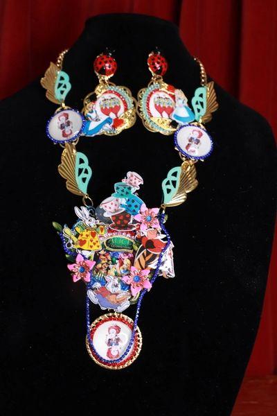 8803 Alice In Wonderland Queen Of Hearts Necklace