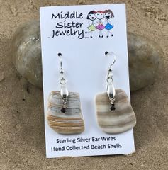 Clam Shell Crystal Earrings (more options) - CESH5