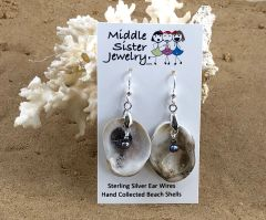 Tan Oyster Shell Earrings - CESH8