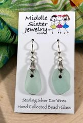 Aqua Drop Beach Glass Earrings (more options) - CEGD10