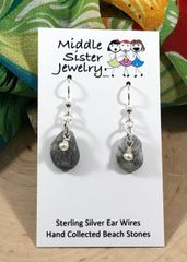 Alaskan Beach Stone Earrings - CEST1