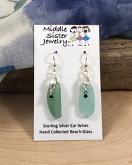 Jade Drop Beach Glass Earrings (more options) - CEGD7