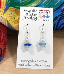 Pastel Beach Glass Earrings - CEGS6