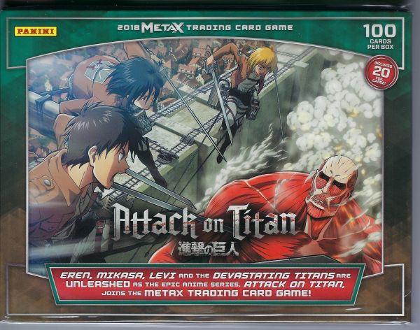 2018 Panini Meta X Attack On Titan Tcg 100ct Starter Deck Wildwood Enterprises Llc Jefferson City Mo