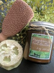 Peppermint Loofah Embedded Foot Scrub Soap