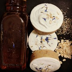 Lavender, Goat's Milk, Honey and Oatmeal Soap Round