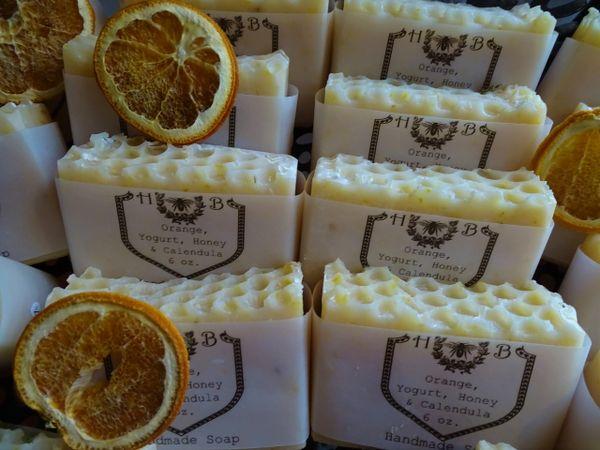 Orange, Yogurt and Calendula Handmade Soap
