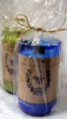 Recycled Bottle Candle with Crackling Wood Wick - Wine and Wood Scents