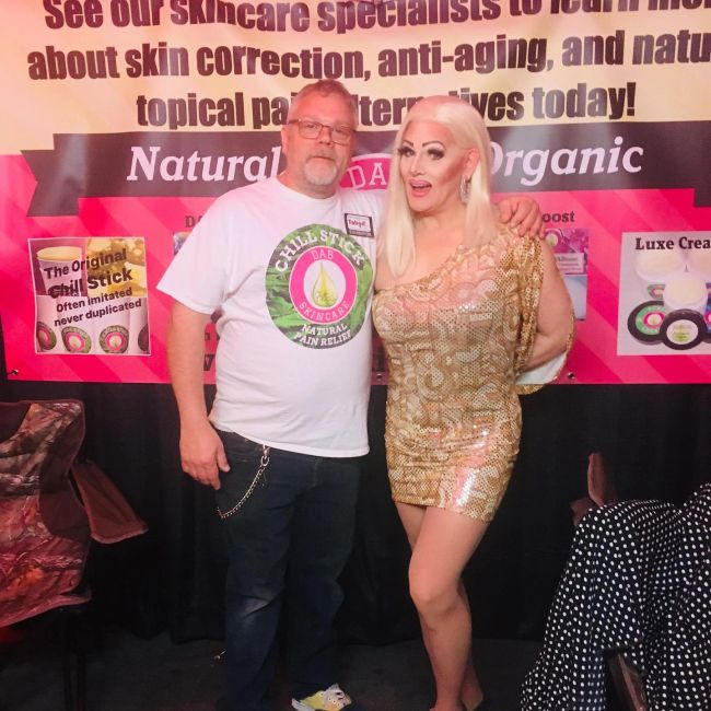 DAB SKINCARE REP DOUG AND HOST TERRY STEVENS FROM A TABOO EVENT