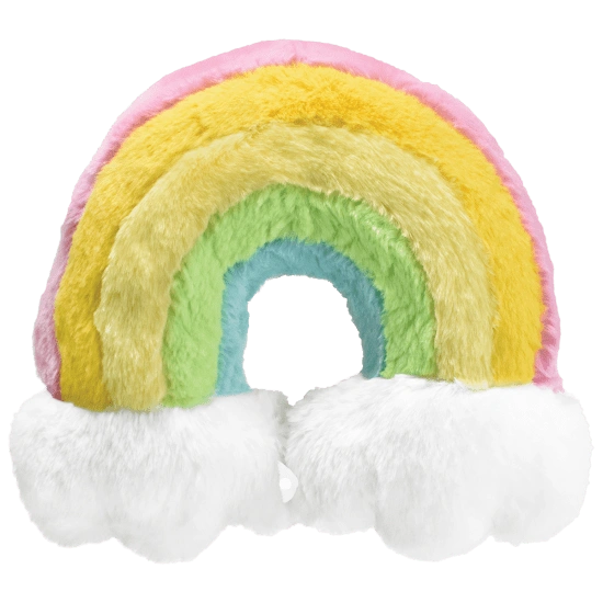 Rainbow Furry Neck Pillow