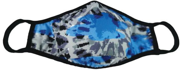 Blue Tie-Dye Face Mask
