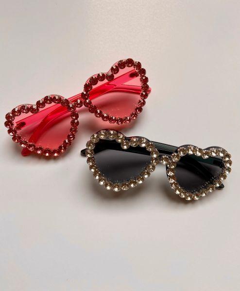 "Oversize ""Sweetheart"" Rhinestone Sunglasses"