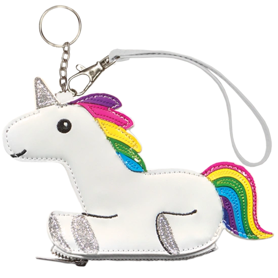 Rainbow Unicorn Purse Key Chain