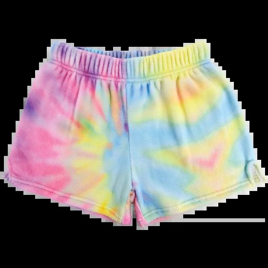 Pastel Tie Dye Plush Shorts