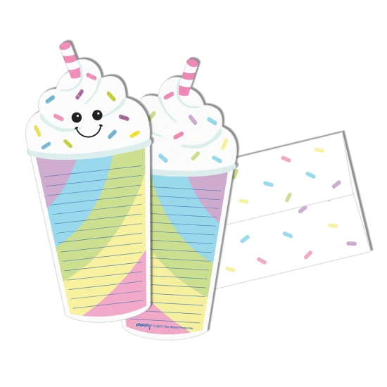 Milkshake Glitter Notecards