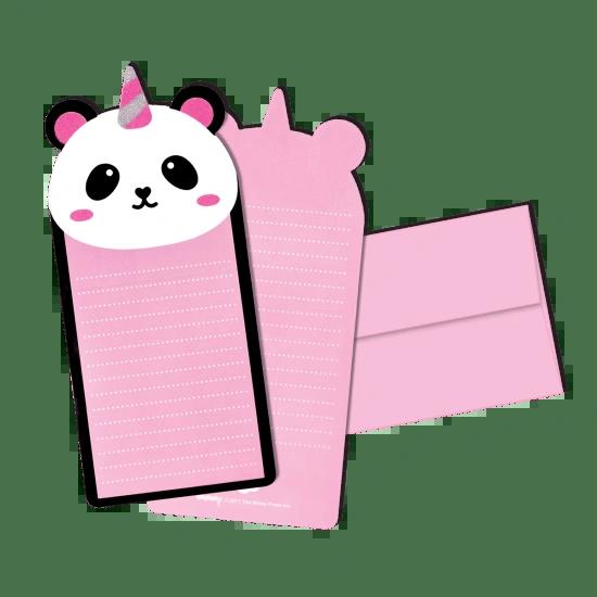 Pandacorn Glitter Notecards
