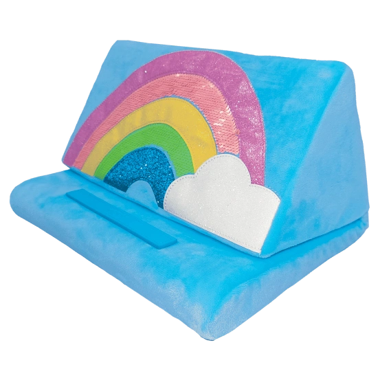 Rainbow and Glitter Tablet Pillow