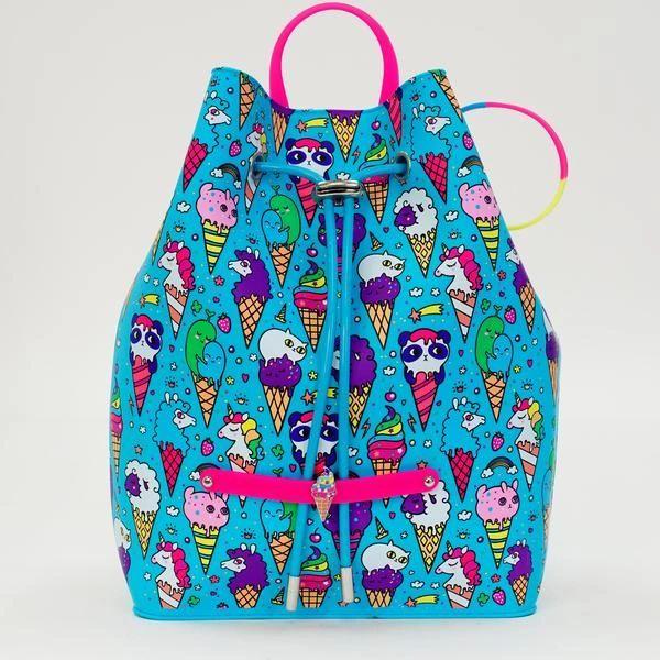 Blue Raspberry Ice Cream Yummy Gummy Pull Backpack